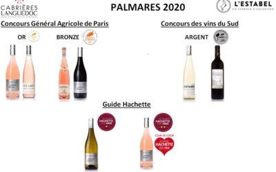 Récompenses des vins 2020